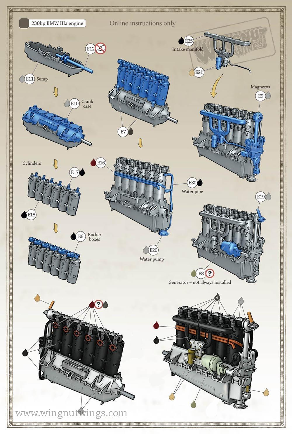 132E0013 BMW IIIa engine instructions. Online only · »