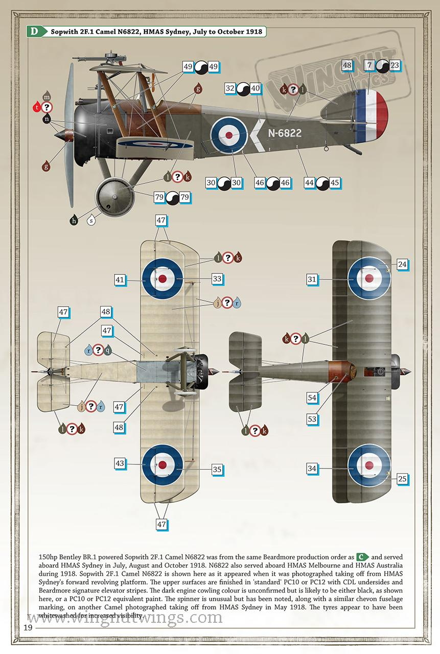 Wingnut Wings 1 32 Sopwith 2f1 Ships Camel Cat 3046 Engine Diagram 7132076 Page 19